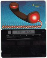 ST.KITTS & NEVIS(GPT) - Red Handset(shallow Notch), GPT Test Card 1000 Units, CN : 1CTST000543, Tirage 100, Used - Saint Kitts & Nevis