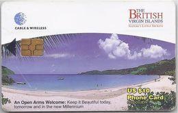 BRITISH VIRGIN ISLANDS - OPEN ARMS WELCOME - BLACK CHIP - Virgin Islands