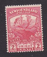 Newfoundland, Scott #116, Mint Hinged, Caribou, Issued 1919 - Terre-Neuve