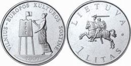 Lithuania 1 Litas  2009 UNC / BU - Vilnius < Coin From Roll > - Lithuania