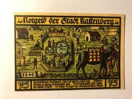 Allemagne Notgeld Rastenberg 75 Pfennig - [ 3] 1918-1933 : Weimar Republic