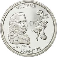 France, Medal, Voltaire, FDC, Cuivre Plaqué Argent - France