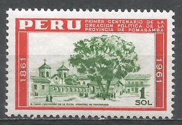 Peru 1962. Scott #482 (MNH) Centenary Cedar, Main Square, Pomabamba - Pérou