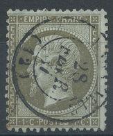 Lot N°39619   Variété/n°19, Oblit Cachet à Date De MARSEILLE (12), S De POSTES - 1862 Napoleone III