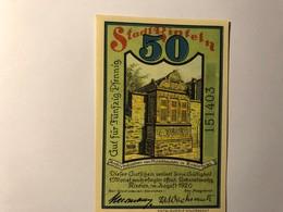 Allemagne Notgeld Rinteln 50 Pfennig - [ 3] 1918-1933 : Weimar Republic