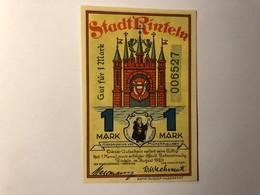 Allemagne Notgeld Rinteln 1 Mark - [ 3] 1918-1933 : Weimar Republic