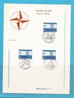 "FDS - FDC - ""NAVO - OTAN"" - 2 BLZN - 5 AFSTEMPELINGEN 1974 ..........22 - FDC"