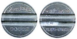01341 GETTONE JETON TOKEN DOCCE WASHING AZZURRA DOCCE MARSCIANO PERUGIA - Unclassified