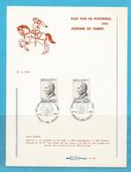 """FDS - FDC - """"DAG V D POSTZEGEL - JOURNEE DU TIMBRE"""" - 3 BLZN -  10 AFSTEMPELINGEN 1974 ..........24 - FDC"""