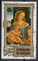 """Burundi 1974 Sc. CB34 """"Madonna Col Bambino..."""" Quadro Dipinto Da L. Di Credi Paintings CTO Tableaux - Burundi"""