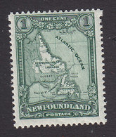 Newfoundland, Scott #145, Mint Hinged, Map, Issued 1928 - Terre-Neuve