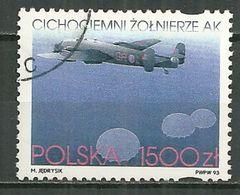 POLAND Oblitéré 3263 Forces De L'intérieur Durant La Seconde Guerre Mondiale Avion Aviation Halifax - 1944-.... Republic