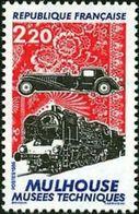 FRANCIA 1986 - MUSEO TECNICO DE MULHOUSE - COCHE Y TREN - YVERT Nº 2450** - France