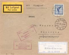 MiNr.380 Luftpost Köln>Gleiwitz  Gel.1926 Deutsches Reich - Covers