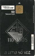 CARTEà-PUCE-PORTUGAL-50-10/97-110 Ans ASSOCIACAO ACADEMICA DE COIMBRA-50000ex-UTILISE-BE- - Portugal