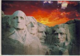 MOUNT RUSHMORE SILHOUETTED AGAINST SUNSET  USED - Mount Rushmore
