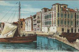 Old Boats - Saint - Jean - De - Luz. Le Quai Et La Maison De L`Infante.   France.  S-4153 - Ships