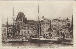 Old Boats - Ships   Lorient - Un Coin Du Bassin Du Commerse Et Salle Des Fetes.    France.  S-4154 - Ships