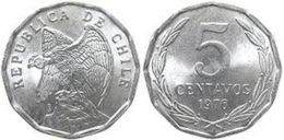 Chile 5 Centavos 1976 UNC - Chile