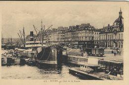 Cargo Ships In Port. Rouen   Quai De La Bourse.     France.  S-4157 - Cargos