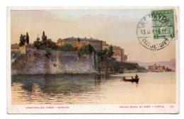 (Grèce) 215, Corfou, Palais Royal Et Port - Grecia