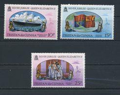 TRISTAN  DA  CUNHA    1977    Silver  Jubilee    Set  Of  3    MNH - Tristan Da Cunha