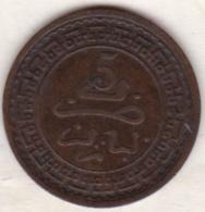 Maroc. 5 Mazunas (Mouzounas) HA 1321 (1903) Paris. Abdul Aziz I. Frappe Médaille. Bronze. - Maroc