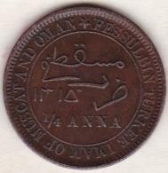 Muscat & Oman . 1/4 Anna AH 1315. Faisal Bin Turkee .  KM# 3.1. Copper. - Omán