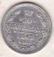 Russie . 10 Kopeks 1863. Alexander II. Argent - Russie