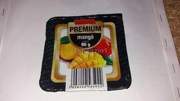 Riska Premium Mango Puding Pudding Joghurt Yaourt Yogurt Label Etikette Etiqueta Hungary - Otras Colecciones