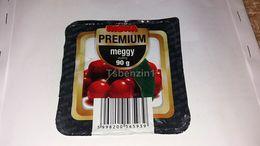 Riska Premium Cherry Kirsche Sauerkirsche Guindo Puding Pudding Joghurt Yaourt Yogurt Label Etikette Etiqueta Hungary - Otras Colecciones
