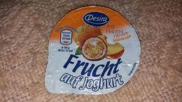 Desira Pfirsich Maracuja Peach Joghurt Yaourt Yogurt Label Etikette Etiqueta From Hungary - Otras Colecciones