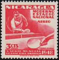 NICARAGUA - Scott #C298 Table Tennis / Mint NH Stamp - Tennis De Table