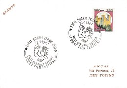 1987 BOARIO Italy FUNNY FILM  FESTIVAL EVENT COVER  Card Cinema  Movie Stamps - Cinema