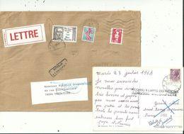 8 Documents  Avec Des Cachets Annexes Linéaires De Distributuion..................à Voir - Marcofilia (sobres)