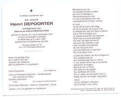 Devotie - Devotion - Henri Depoorter - Nantes 1927 - Wijtschate 1998 - Dewachter - O.A. Gevangenisbewaarder - Obituary Notices
