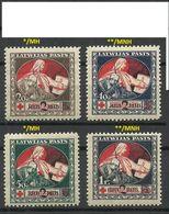 LATVIA Lettland 1921 Michel 65 - 68 Y MNH/MH - Lettland