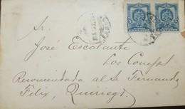 O) 1912 MEXICO, COAT OF ARMS EAGLE 5 CENTAVOS BLUE -PAIR PORFIRIAN EAGLES, ALAMOS-RECOMENDADA, XF - Mexico
