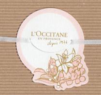 CC Carte Parfumée L'OCCITANE Perfume Card JAPAN - Cartes Parfumées
