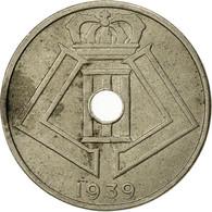Belgique, 25 Centimes, 1939, TB+, Nickel-brass, KM:114.1 - 1934-1945: Leopold III