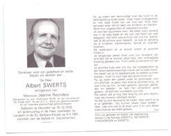 Devotie - Devotion - Albert Swerts - Heusden 1916 - Lanaken 1991 - Reynders - Oudstrijder - Mijnwerker - Lid Duivenbond - Obituary Notices