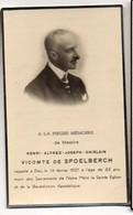 Henri Vicomte De Spoelbergh +14/2/1937 63 Ans Photo Gand  Burgemeester Deurle Sint-Martens-Latem - Obituary Notices
