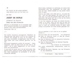 Devotie - Devotion - Jozef De Borle - Leeuwergem 1916-1990 - Van Den Driessche - Oudstrijder - Obituary Notices