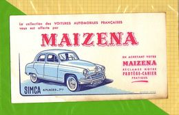 BUVARD . BLOTTER  : MAIZENA  SIMCA  4 Places 7 CV - Automobile