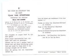 Devotie - Devotion - Cyriel Van Steerthem - Sint-Maria-Lierde 1915 - Zottegem 1989 - Van Damme - Oudstrijder - Obituary Notices