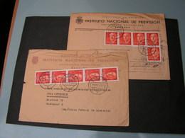 Spanien 2 Alte Briefe 1953 Nach Uffenheim Franken - 1931-Heute: 2. Rep. - ... Juan Carlos I