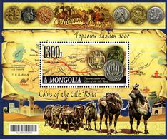 Mongolia - 2017 - Coins Of The Silk Road - Mint Souvenir Sheet - Mongolië