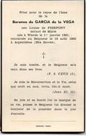 De Garcia De La Vega Née De Pierpont °Wierde 1891 +19/8/1960 Argentières Haute Savoie Namur Bourgmestre Flostoy - Obituary Notices
