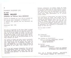 Devotie - Devotion - Odiel Mulier - Rumbeke 1915 - Roeselare 1983 - Bergeman - Oudstrijder - Obituary Notices