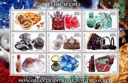 Mongolia - 2017 - Mongolian Traditional Nine Treasures - Mint Souvenir Sheet - Mongolia
